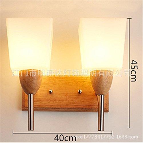 Moderne Nachttisch-Wandleuchte einfache kreative Massivholz LED energiesparendes Schlafzimmer Wohnzimmer Gänge Korridor Hotel Hotel...