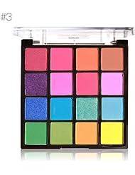 Cocohot 16 Couleurs de Maquillage Professionnel Facile à Porter Ombre À Paupières Contour Palette maquillage Shimmer Fard À Paupières