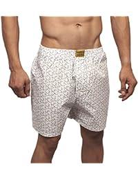 Neska Moda Men's Premium Elasticated Cotton White Boxer With 1 Back Pocket-MFN-XB113
