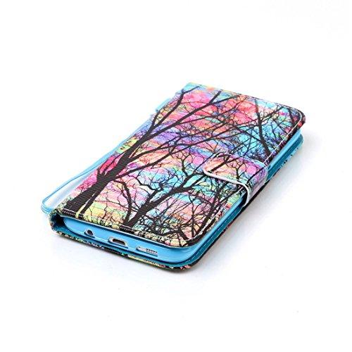 Chreey Coque Apple Iphone 5 / 5S 5SE (4 pouces),PU Cuir Portefeuille Etui Housse Case Cover ,carte de crédit Fentes pour ,idéal pour protéger votre téléphone Fantaisie Arbre