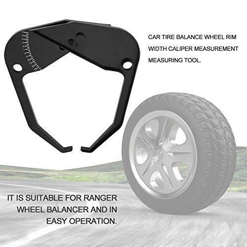 Balance Instrument Ranger Wheel Reifenwuchtmaschine Felgenbreite Caliper Measure Tool (Farbe: schwarz)