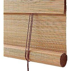CORTINA Persianas enrollables de Madera, persianas venecianas de bambú fáciles de Instalar, aptas para Habitaciones Interiores y Exteriores de Salas de Estar (Tamaño : 60x140cm)