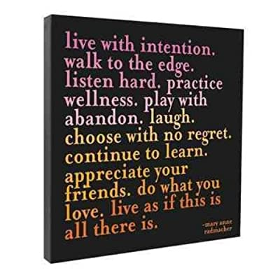 Live With Intention Wall Canvas
