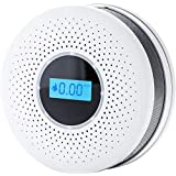 PRYMAX Smoke Detector and Carbon Monoxide Detector Alarm Battery Operated (Included 3 Batteries) with LCD Display,Dual Sensor