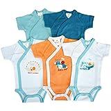 Baby Collection - 5er-Pack Baby Bodys Wickelbodys Kurzarm Schnecke