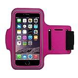 Schweißfest Sport Armband iPhone,Android – Mit Schlüsselhalter, Kabelfach, Kartenhalter Für iPhone 7/6/6S,Galaxy S7/S6/S5,iPhone 5/5S/SE Bis Rose 5.5'