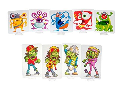 Preisvergleich Produktbild Zombie, Außerirdische und Schießplatz Ziele für Nerf Spielzeugblaster - Fähigkeitslevels 1, 2 und 3! (Zombie+Außerirdische)