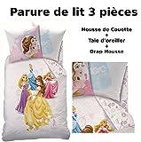 Parure di letto (3pezzi)-Principessa Dream Big-Copripiumino 140x 200cm + federa 63x 63cm + lenzuolo con angoli 90x 190cm-100% cotone