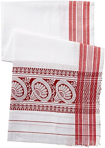 IndusDiva Gamosa Cotton Handwoven Dupatta(ASM0010002_Off-White_one size)