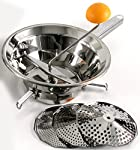O.M.A.C. Omac Emanuel 190Food Mill Made Of Stainless Steel, Grey, 34.4x 24x 10.2 cm