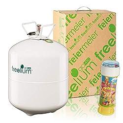 Freelium® go 410 Ballongas Flasche mit 0,41m³ Helium + 1x Magic Color Bubbles 60ml GRATIS - Luftballons einfach befüllen