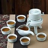 LVZAIXI Kreativer Stein Kung Fu Tee faules halbautomatisches blaues weißes Tee-Satz-Haus einfach (Farbe : 02, größe : 02)