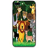 ZZHOO Compatible with iPhone 7/8 Plus Case, Animals in The Jungle Funny Expressions...