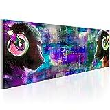 murando Bilder 135x45 cm - Vlies Leinwandbild - 1 Teilig - Kunstdruck - Modern - Wandbilder XXL - Wanddekoration - Design - Wand Bild - Schimpanse Affe Musik Bunt g-A-0107-b-d
