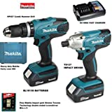 MAKITA 18V CORDLESS COMBI LITHIUM DRILL & LITHIUM IMPACT DRIVER TWIN PACK COMPLETE KIT WITH HEAVY DUTY CARRYING CASE   FREE MAKITA GOLD IMPACT