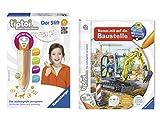 tiptoi Ravensburger Kinder Set - 00700 Stift mit Player und Buch Wieso? Weshalb? Warum? Komm mit auf die Baustelle im Set