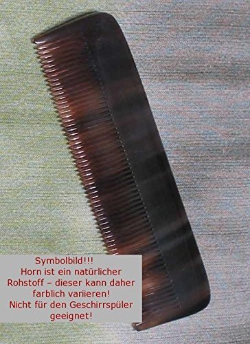 Kost Kamm Mini-Taschenkamm aus Horn, Zahnung fein, Länge 10 cm