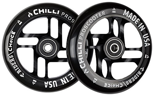 Chilli Pro Wheels Made in USA - 110mm - Black PU/Black core (In Made Usa)