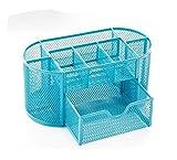 Office Supplies Best Deals - Tidy Generic-Organizer da scrivania in rete, Office Supply Organizer portaoggetti, colore: blu