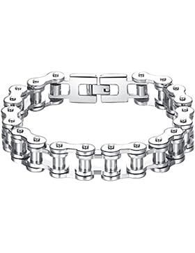 Aoiy Herren-Armband, Fahrradkette, Edelstahl, 23cm, ccb018