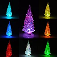 Sedeta® Lumières de nuit d'arbre de Noël de LED Lampe Xmas Home Decor Party Décoration Accessoires d'ornement au hasard pour la voiture de l'école à domicile