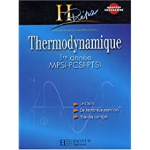 Thermodynamique 1ère année MPSI-PCSI-PTSI