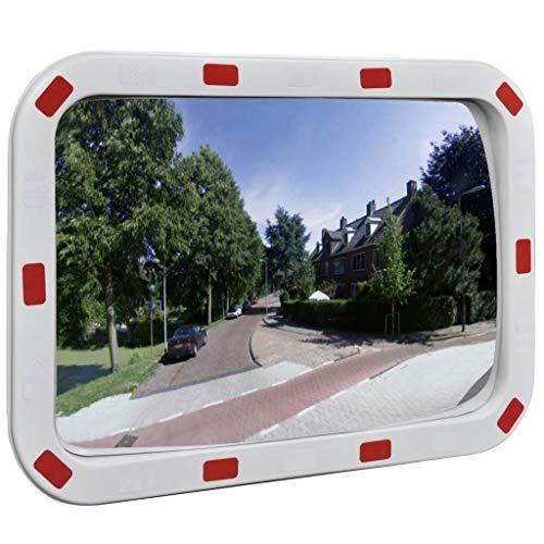 Festnight- Specchio Traffico Convesso Rettangolare 40 x 60 cm con Catarifrangenti
