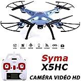 SYMA X5HC Drone Quadricoptère avec Camera Video HD 2MP - Nouvelle Version 2016 du Modèle X5C et X5SC - Bleu