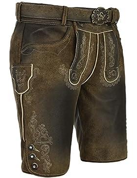 Michaelax-Fashion-Trade Spieth & Wensky - Herren Trachten Lederhose mit Gürtel, Alex (240471-0485)