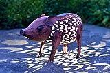 Smart Solar statua di maiale da giardino con illuminazione