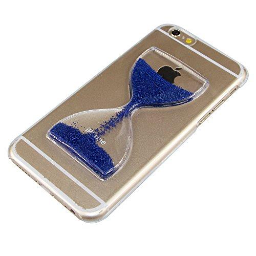Paillette Coque pour iPhone 6S / 6 4.7 Pouce,iPhone 6S Coque Transparente Plastique Etui Diamant Housse Coque Hard,iPhone 6S Coque Antichoc Plastic Liquide Coque Bling Flash Etui Plastic Case Cover,EM Hourglass 2