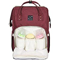 Himawari Diaper Bag Multi-Function Waterproof Travel Backpack Nappy Bags for Baby Care, Large Capacity, Stylish and Durable (wine red)