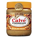 3 X Calve Pindakaas met stukjes noot - Erdnussbutter mit Stückchen Nuß - 350g