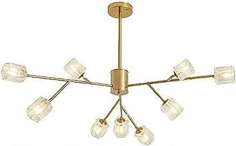 18 Light Sputnik Crystal Chandeliers Modern Pendant Light G9 Bulbs Branch Chandeliers Matte Black Finish Ceiling Fixtures for Living Room Bar Shop