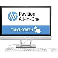 HP Pavilion 24-r061ng 60,45 cm (23,8 Zoll Full HD-IPS Touchscreen) All-in-One Desktop PC (Intel Core i7-7700T, 16GB RAM, 128GB SSD, 1TB HDD, Windows 10 Home 64) weiß