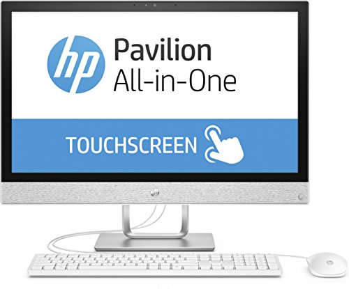 HP Pavilion 24-r061ng 60,45 cm (23,8 Zoll Full HD-IPS Touchscreen) All-in-One Desktop PC (Intel Core i7-7700T, 16GB RAM, 128GB SSD, 1TB HDD, Windows 10 Home 64) weiß