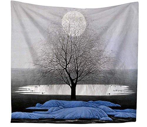 Tapiz Arte Moderno Abstracto un árbol y una de secado sol pared adornos pared Alfombras pared colgantes...