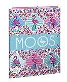 Moos  Flamingo Turquoise Oficial Carpeta Folio Oficial Con 3 Solapas 260x365mm