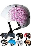 Skullcap® BMX Helm ? Skaterhelm ? Fahrradhelm ?, Herren | Damen | Jungs & Kinderhelm, schwarz matt & glänzend (Mandala, S (51 - 54 cm))