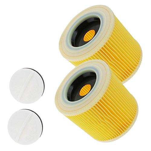 2x Patronenfilter Patronen Filter für Waschsauger Kärcher WD2.200 WD3.500 Nass-/Trockensauger