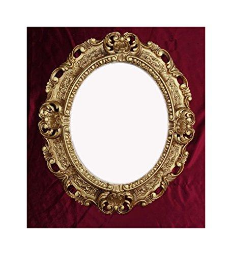 Lnxp WANDSPIEGEL Spiegel Oval in Gold REPRO 45x38 Antik Barock Rokoko Vintage REPLIKATE NOSTALGISCH...