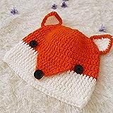 Little Fox Kinder Strickmütze Cartoon Spitze Ohr Baby warme Mütze Peas Hut Winter handgewebte Mütze