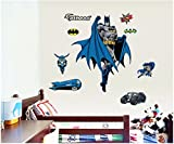 Funky Planet Batman Wandaufkleber, Dekoration für Kinderzimmer, Set mit Stickern, Design für Jungen und Mädchen