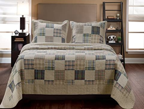 Greenland Home 2-Piece Oxford Quilt Set, Twin, Multicolor by Greenland Home