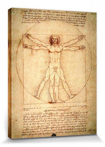 1art1 56960 Leonardo Da Vinci - Vitruvianischer Mensch, Circa 1490 Poster Leinwandbild Auf...