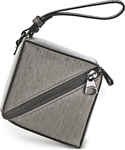MIYA BLOOM, sacs à main pour dames, sacs de soirée, optique dés, gris métallisé, 12,5 x 12 x 10,5 cm (L x H x P)