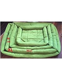 Doggy cama para perros Tamaño XL (66 x 90 cm) verde, lavable,