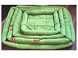 Doggy Hundebett Größe XL (66x90cm) Grün, abwischbar, Oxfordgewebe super komfortabel und robust