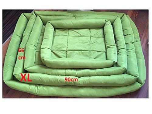 Doggy cama para perros Tamaño XL (66x 90cm) verde, lavable, tejido Oxford Super Cómodo y resistente