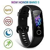 Honor Band 5 Smartwatch armband met hartslagmeter, waterdicht IP68, slaapmonitor fitnesstracker zwart